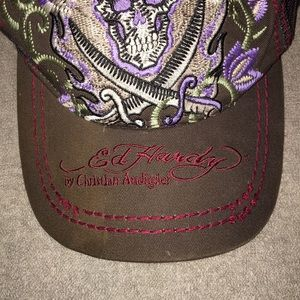 Ed Hardy Accessories - ED HARDY skull and daggers baseball cap